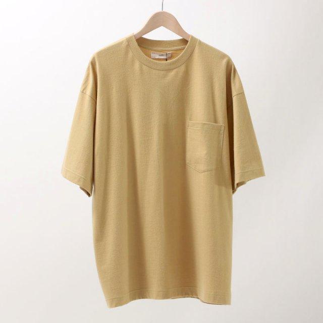 【2019A/W】【unfil / アンフィル】cotton flannel jersey short sleeve Tee MUSTARD