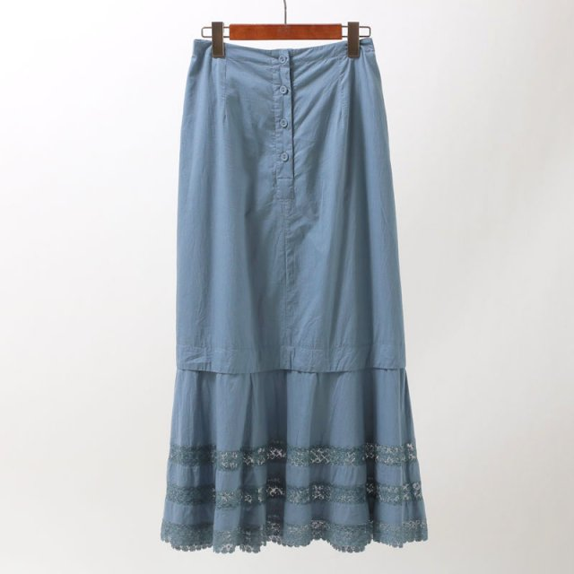 【2019 A/W】【ne Quittez pas ヌキテパ】FINE LAWN LACE LONG SKIRT LT.BLUE
