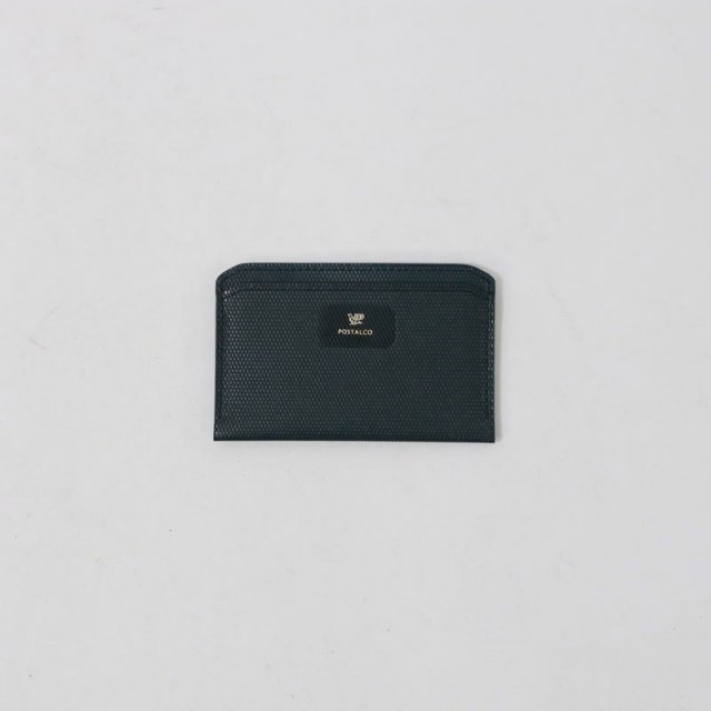【POSTALCO】CROSSGRAIN LEATHER FLAT WALLET BLUE