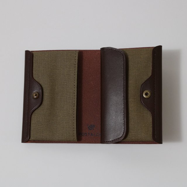 【POSTALCO】PRESSED COTTON CARD & COIN WALLET OLIVE GREEN