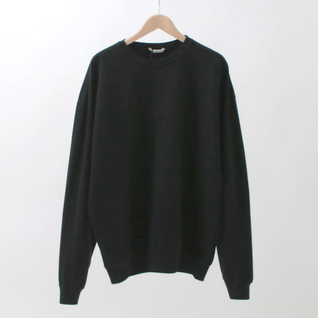 【2020 S/S】【AURALEE オーラリーメンズ】SUPER SOFT SWEAT BIG P/O BLACK