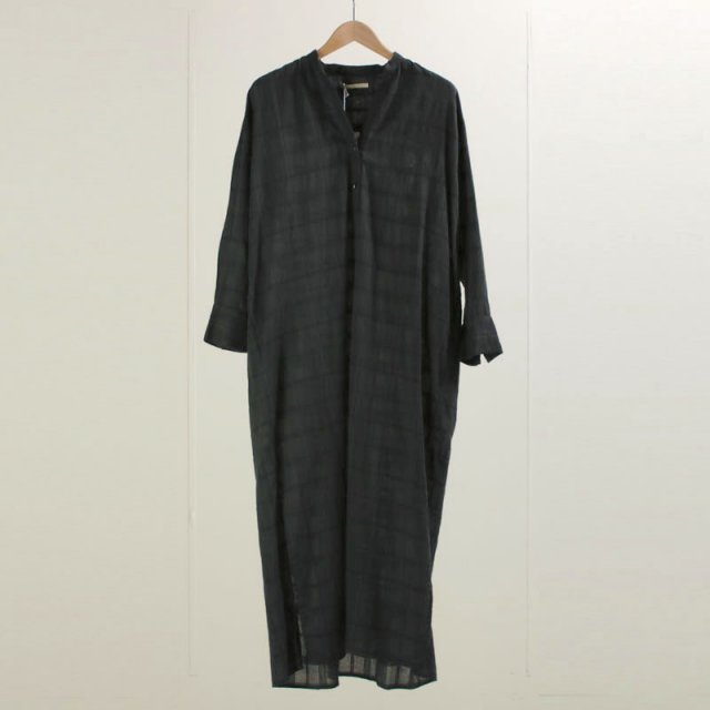【30%OFF】【ne Quittez pas ヌキテパ】CHECK SHIRTS DRESS CHARCOAL