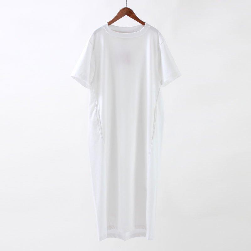 【2020S/S】【unfil アンフィルレディース】ORGANIC COTTON JERSEY T SHIRT DRESS WHITE