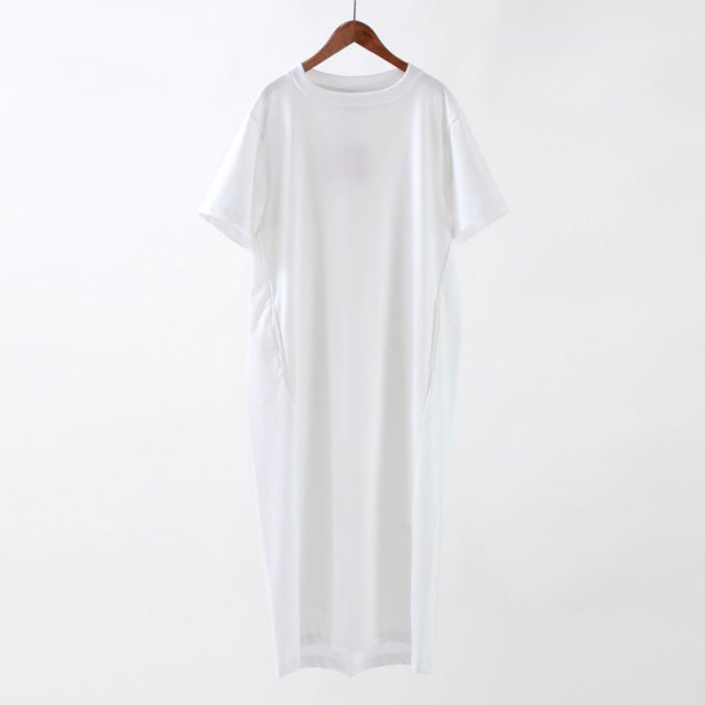 【8月1日再値下げ】【35%OFF】【2020S/S】【unfil アンフィルレディース】ORGANIC COTTON JERSEY T SHIRT DRESS WHITE