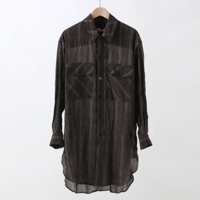 【35%OFF】【unfil アンフィルレディース】COTTON & LINEN GEORGETTO OVERSIZED SHIRT