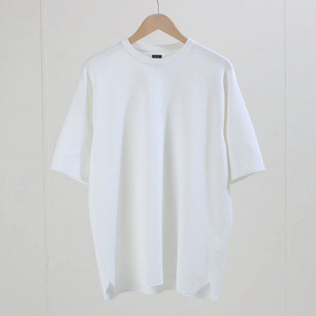 【2020S/S】【BATONERバトナーメンズ】32G SMOOTH T-SHIRT WHITE