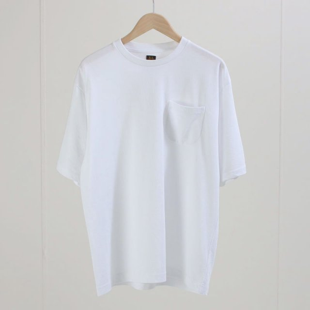 【2020S/S】【BATONERバトナーメンズ】TWIST HIGH GAUGE TERRY POCKET T-SHIRT WHITE