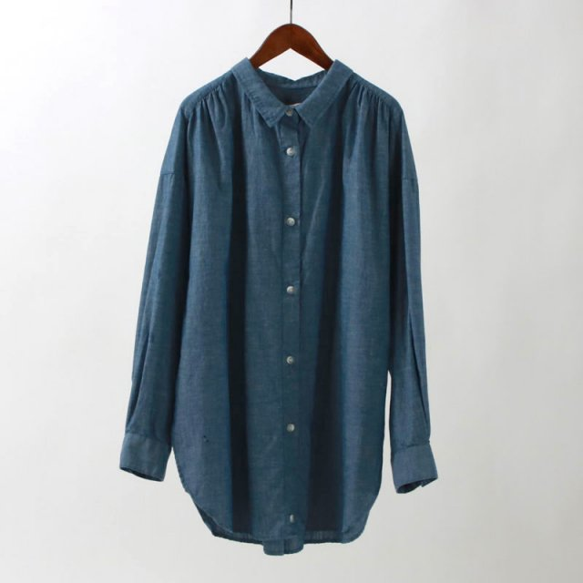 【2020S/S】【R JUBILEE アール ジュビリー】2WAY SHIRTS (DUNGAREE) NAVY