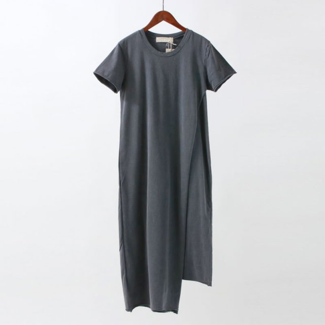 【2020S/S】【R JUBILEE アール ジュビリー】LAYERED TEE DRESS CHARCOAL