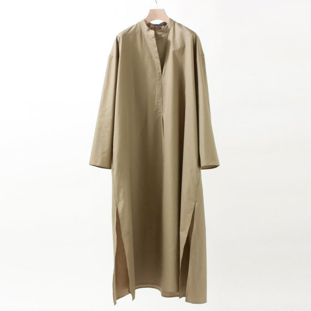 【40%OFF】【2020 S/S】【Cristaseya クリスタセヤ】LIGHT COTTON CAFTAN DRESS LIGHT KHAKI