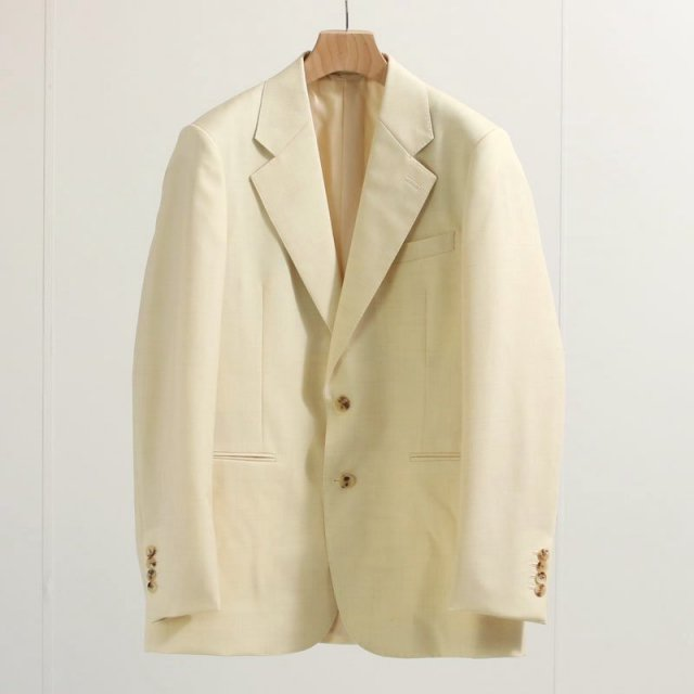 【ラスト1点】【2020 A/W】【AURALEE オーラリー】BLUEFACED WOOL JACKET NATURAL ECRU