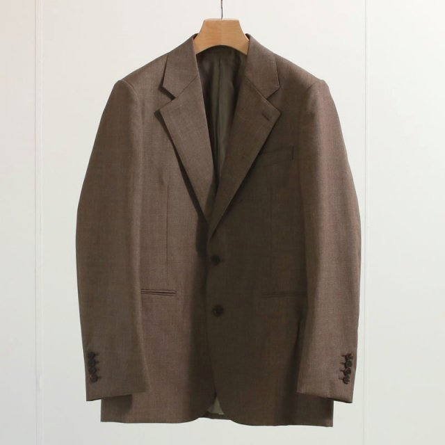 【ラスト1点】【2020 A/W】【AURALEE オーラリー】BLUEFACED WOOL JACKET TOP BROWN