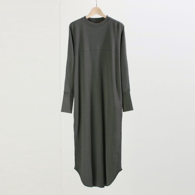 【8月1日再値下げ】【35%OFF】【2020 S/S】【Phlannel フランネル】Cotton Wool Thermal Dress KHAKI