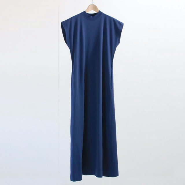 【3日間限定20%OFF!8月11日11時まで】【Phlannel フランネル】Organic Cotton Summer Long Dress BLUISH PURPLE
