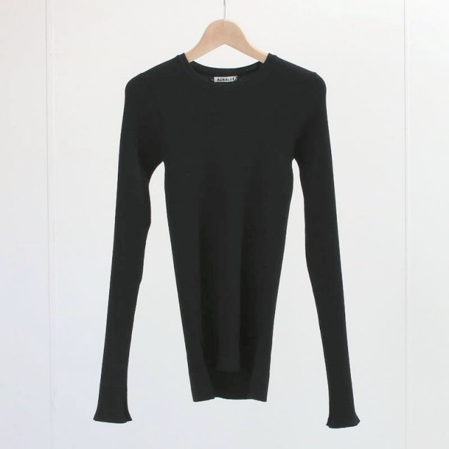 【2020 A/W】【AURALEE オーラリーレディース】 HIGH GAUGE RIB KNIT P/O BLACK