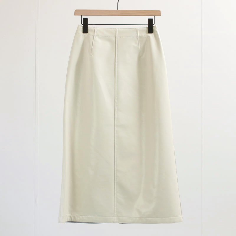 【2020 A/W】【AURALEE オーラリーレディース】WOOL CASHMERE LAMINATE SKIRT IVORY × TOP GRAY