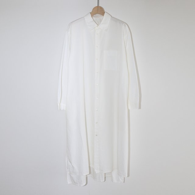 【2020A/W】【COSMIC WONDER コズミック ワンダー】BEAUTIFUL ORGANIC COTTON SHIRT DRESS WHITE