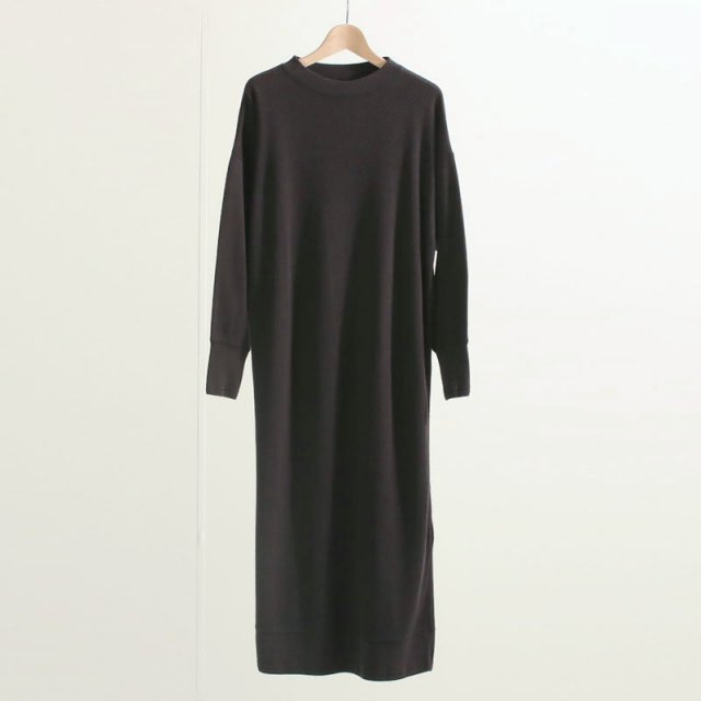 【2020 A/W】【Phlannel フランネル】Cotton Silk Thermal Day Dress Deep Gray
