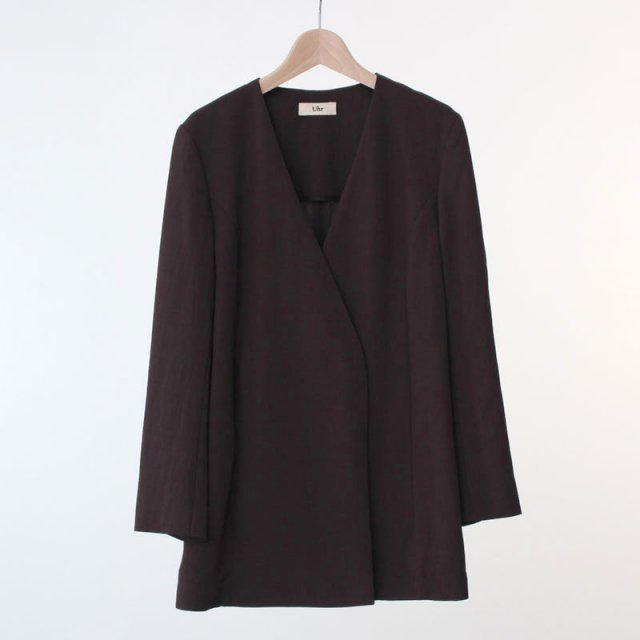 【2020A/W】【Uhr / ウーア】No-Collar Double Jacket Brown