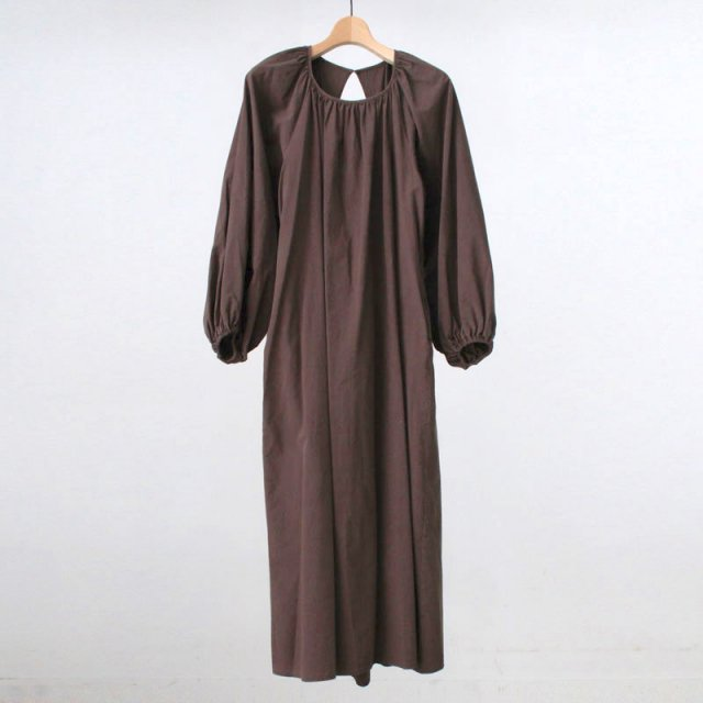 【2020A/W】【R JUBILEE アール ジュビリー】Back Open Dress BROWN