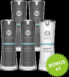 ネリウム エイジディファイング ナイトクリーム4個セット+デイクリーム1個セット Nerium Age-Defying Night Cream NeriumAD Formula 4pack