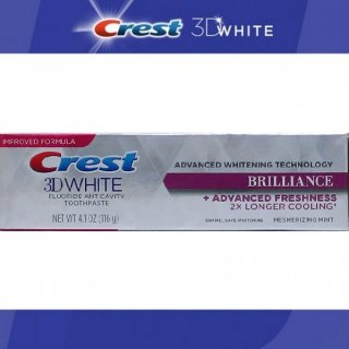 CREST クレスト 3Dホワイト ブリリアンス ミント 116g Crest 3D White Brilliance Mint ホワイトニング歯磨き粉