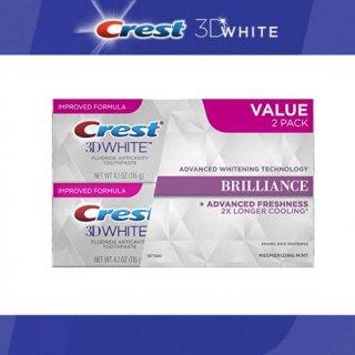 CREST クレスト 3Dホワイト ブリリアンス ミント 116g Crest 3D White Brilliance Mint ホワイトニング歯磨き粉 2本