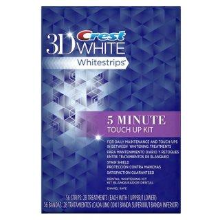 クレスト 3D ホワイトストリップ ファイブミニッツ Crest 3D White crest 5 minute touch up kit 28 ホワイトニングシート 5分で真っ白な歯