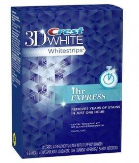 クレスト 3D ホワイトストリップ 1アワー 4枚入り Crest 3D White 1 Hour Express ホワイトニングシート