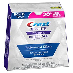 クレスト ホワイトストリップス ブリリアンスプロフェッショナルエフェクト Crest 3D White Brilliance Professional Effects Whitestrips 48