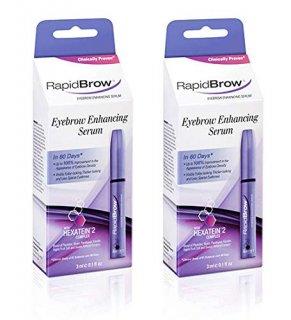 RapidBrow Eyebrow Enhancing Serum, 2-pack ラピッドブロウ ラピッドラッシュ眉版 美容液育毛剤2個セット