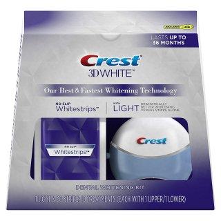 クレスト ホワイトストリップ&LEDライト ホワイトニングセット CREST 3D WHITE WHITESTRIPS WITH LIGHT - TEETH WHITENING KIT