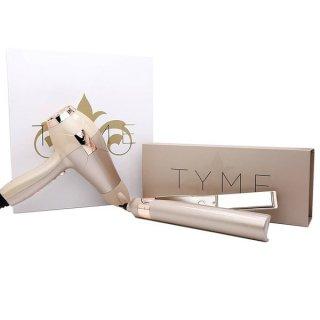 TYME Pro Blow Kit チタンプレート ストレート&カール2ウェイヘアアイロン &ヘアドライヤーセット