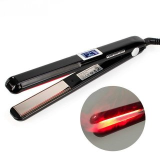 超音波 赤外線 ストレート ヘアアイロン プロ仕様 トリートメント 縮毛矯正にUltraSonic Infrared Iron