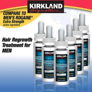 Kirkland Signature Hair Regrowth Treatment Extra Strength for Men, 5% Minoxidil  カークランド ミノキシジル 発毛剤