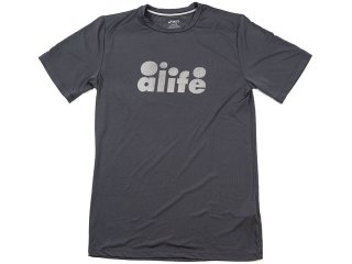 ALIFE / ASICS MARATHON COLLECTION BUBBLE LOGO DRY FIT T SHIRT<BR>エーライフ アシックス マラソン