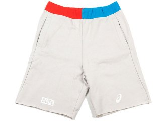 ALIFE / ASICS MARATHON COLLECTION FRENCH TERRY CUT OFF SHORTS<BR>エーライフ アシックス マラソン