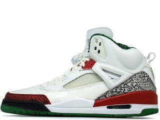 NIKE AIR JORDAN SPIZIKE WHITE/VARSITY RED-COOL GREY-CLASSIC GREEN<BR>ナイキ エアジョーダン スパイズ