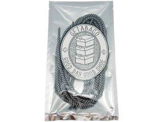 【メール便対応】GETABACO ROPE LACE BLACK/WHITE<BR>ゲタバコ ロープレース ブラック/ホワイト 日本製