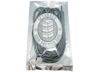 【メール便対応】GETABACO ROPE LACE WHITE/BLACK<BR>ゲタバコ ロープレース ホワイト/ブラック 日本製