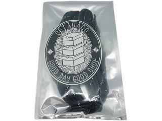 【メール便対応】GETABACO FLAT LACES REFLECT MID NIGHT<BR>ゲタバコ フラットレースリフレクト ミッドナイト 日本製
