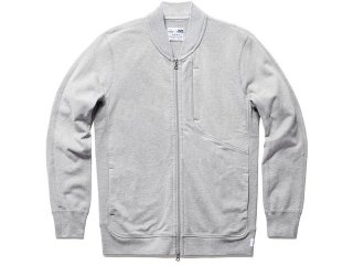 ASICS x REIGNING CHAMP BOMBER JACKET HEATHER GREY