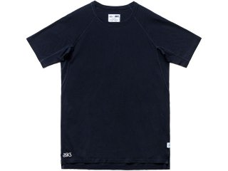 ASICS x REIGNING CHAMP SHORT SLEEVE TEE NAVY