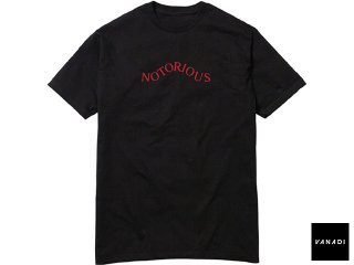 VANADI NOTORIOUS TEE BLACK<BR>ヴァナディ ノートリアス ティー ブラック