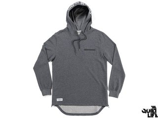 THE QUIET LIFE ON AND OFF PULLOVER HOOD CHARCOAL HEATHER<BR>クワイエットライフ プルーオーバー