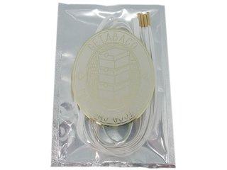 【メール便対応】GETABACO x BEAUTY & YOUTH METAL TIP FLAT LACES WHITE/GOLD<BR>ゲタバコ メタルチップフラットレース 日本製