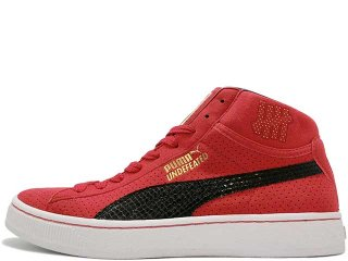 PUMA x UNDEFEATED PUMA MID RED<BR>プーマ アンディーフィーテッド プーマ ミッド レッド