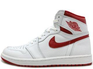 NIKE AIR JORDAN 1 RETRO HIGH OG WHITE/VARSITY RED<BR>ナイキ エアジョーダン 1  レトロ ホワイト バーシティレッド