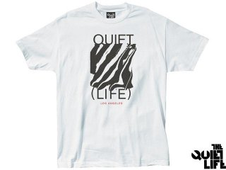 【2017 SUMMER COLLECTION】THE QUIET LIFE SMEAR TEE WHITE<BR>クワイエットライフ シミアー ティー ホワイト