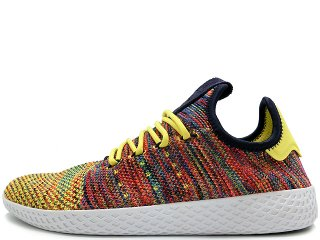 ADIDAS x PHARREL WILLIAMS PW TENNIS HU NOBLE INK/SEMI FROZEN YELLOW/FOOTWEAR WHITE